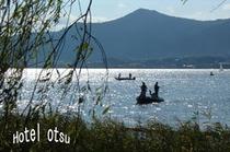 琵琶湖 魚釣り