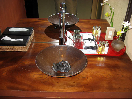 お風呂併設の化粧室