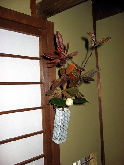 寝室の飾花