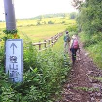 菅平牧場登山口