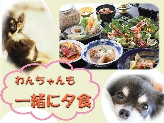 【ペット同室OK】わんちゃんと一緒にご夕食(のどぐろ&鳥取和牛ステーキ)!