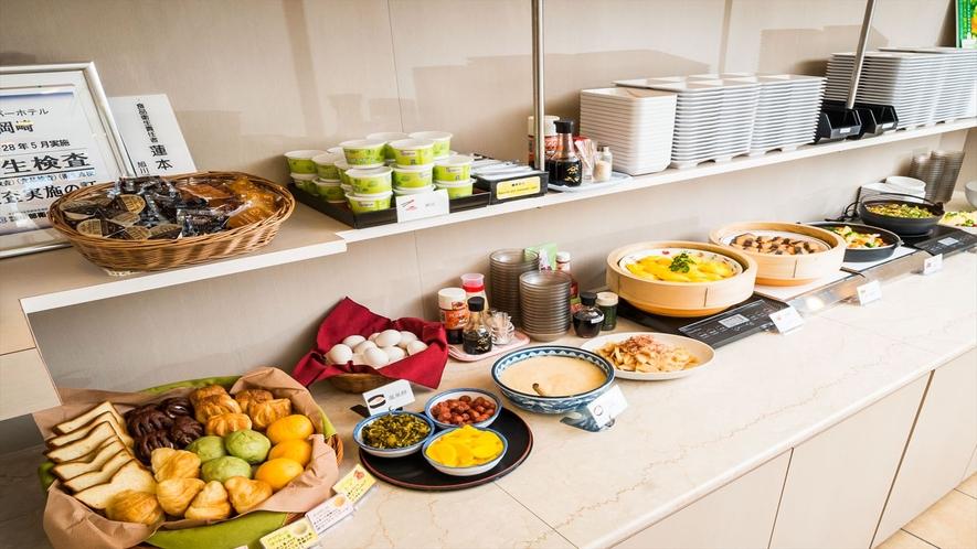 毎朝無料の健康朝食!
