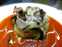 秋刀魚と秋茄子、きのこのチーズ焼き