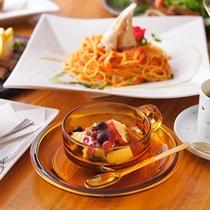 (ランチメニュー)ずわい蟹とトマトのパスタ
