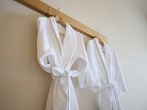 プレミアムツインルーム限定のバスローブ