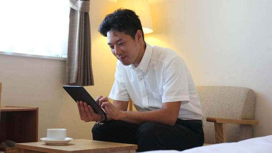 ホテル客室・館内Wi-Fi(無料)完備