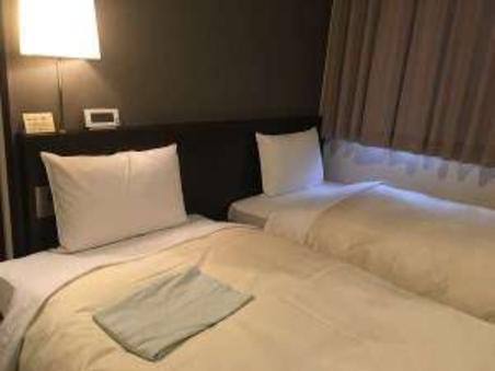 【ツイン】 ベッド幅90cmベッド ○禁煙○