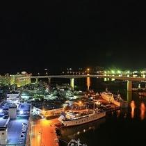 海側の客室から夜はキラキラ煌めく夜景がお楽しみいただけます☆