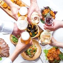 【夏季限定ビアガーデン】2時間食べ放題・オリオン生ビール&各種ドリンク32種類飲み放題♪夕・朝食付