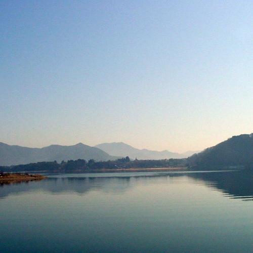 河口湖畔の宿で自然を満喫