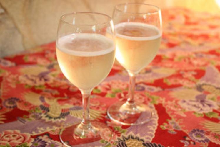 記念日にシャンパン