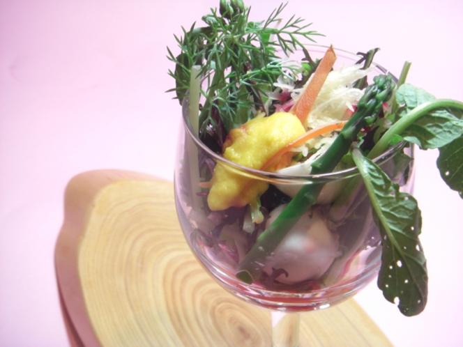 ディナーの一例 お野菜のパルフェ