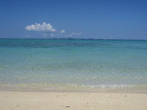 このビーチはランチボックス片手にゆったりと・・・