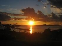 海洋博公園のサンセット・・・!絶好の夕日ポイント・・・