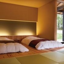 ◆離れ スイート[新月庵]ベッドルーム