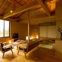 ◆離れ 露天風呂付ロイヤルスイート室内2