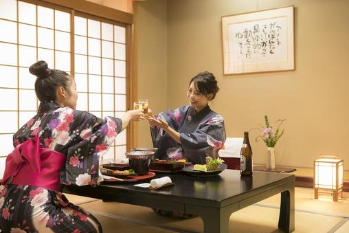 《西館》 和室10+6畳 〜夕食お部屋食〜禁煙