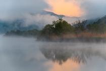 円山川の河霧