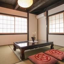 【むらさき】和室のお部屋もあり、落ち着く空間を大事にしています。