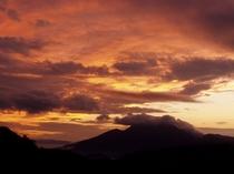 磐梯山 夕日