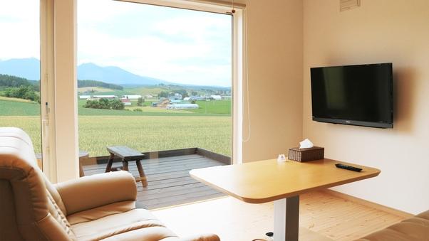 【人気の丘陵地帯と十勝岳ビュー】一棟貸切プライベートハウス
