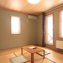 *【綺麗な夕日が見えるお部屋】和洋室/和室6畳+洋室ツイン、広々と寛げるバルコニー付きのお部屋。