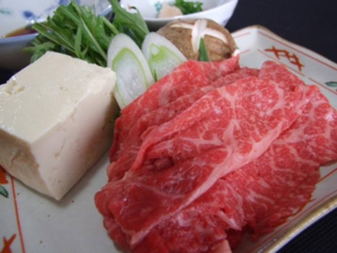 山形牛・米沢牛のしゃぶしゃぶ(夕食オプション)