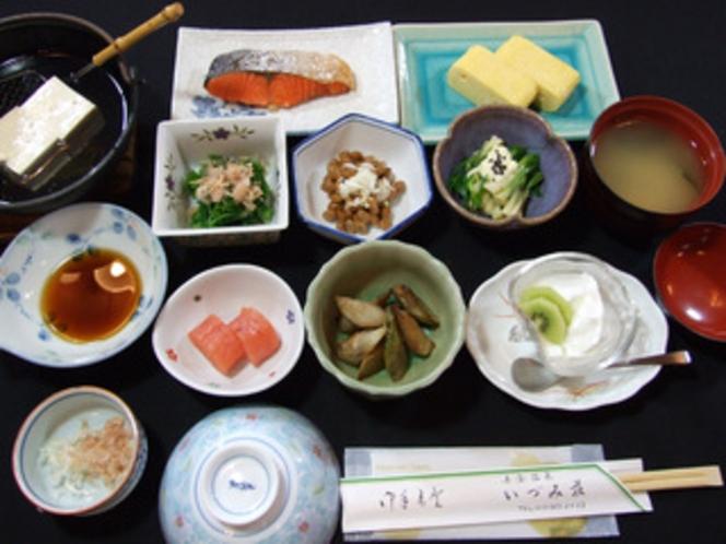 朝食例、おいしい山形!郷土料理プラン【満足コース】(全体)
