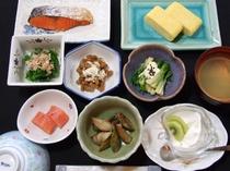 朝食例、おいしい山形!郷土料理プラン【ほどほどコース】(全体)