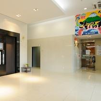 ◆1Fエレベーターと「こんぴら丸」入口◆
