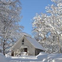 冬の自然観コテージ村