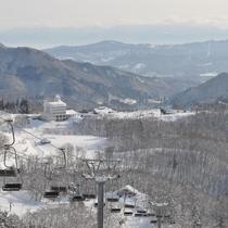 冬のホテル自然観