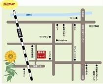 民宿 茶夢本館の周辺地図です。