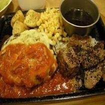 ●ジョイフル● チーズハンバーグ&サイコロ