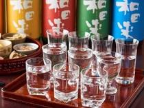 つかさや名物「日本酒10種飲み比べ」