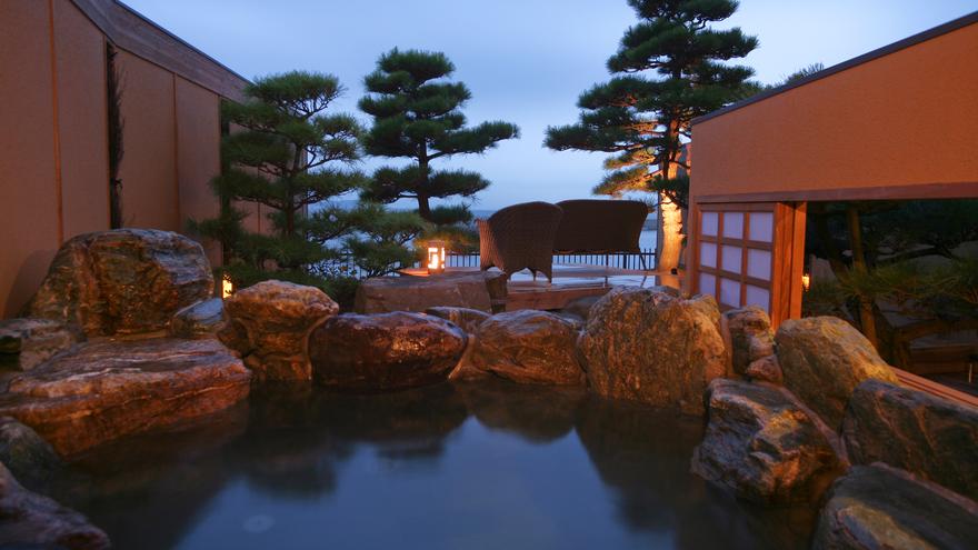 【全室専有露天風呂付】ヴィラ楽園 海の庭 Type C / 103号・露天風呂