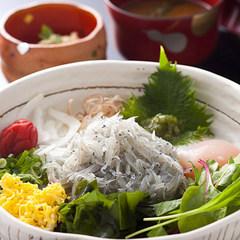 【昼食】日帰りカジュアルプラン(島の生しらす丼+温泉)