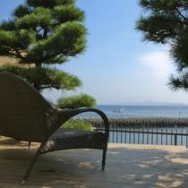 【全室専有露天風呂付】ヴィラ楽園 海の庭 Type C / 103号・テラス海側