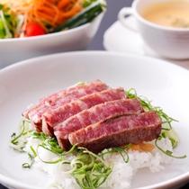【島グルメランチ】淡路牛と淡路野菜のステーキ丼