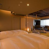 【全室専有露天風呂付】ヴィラ楽園 宙の庭 Type G ・ベッドルーム/和室(一例)