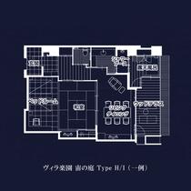 【全室専有露天風呂付】ヴィラ楽園 宙の庭 Type H/I (一例)