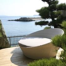 【全室専有露天風呂付】ヴィラ楽園 海の庭 Type B / 102号・テラス海側