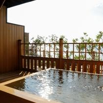 <夢大地>露天風呂付和室 ※客室露天風呂の一例