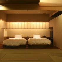 【全室専有露天風呂付】ヴィラ楽園 海の庭 Type B / 102号・ベッドルーム
