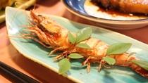 *【夕食例】エビ焼  /新鮮なエビの塩焼きはシンプルで奥深い味わい