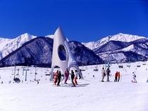 栂池高原スキー場正面ゲレンデ鐘の鳴る丘ゲレンデ