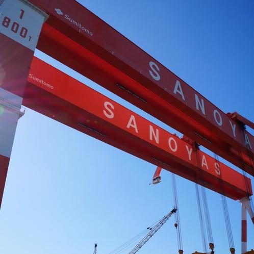 造船所1 ゴライアスクレーン800t吊り