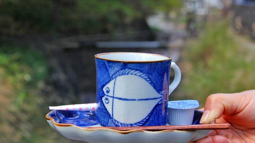 【天然水で淹れたコーヒー】