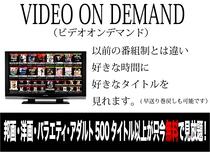 VOD(ビデオオンデマンド)洋画・邦画・バラエティ・アダルト500タイトル以上が只今無料で見放題