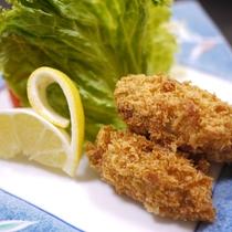 *夕食一例/カキフライ さっくさくの衣と牡蠣のうまみがたまりません!